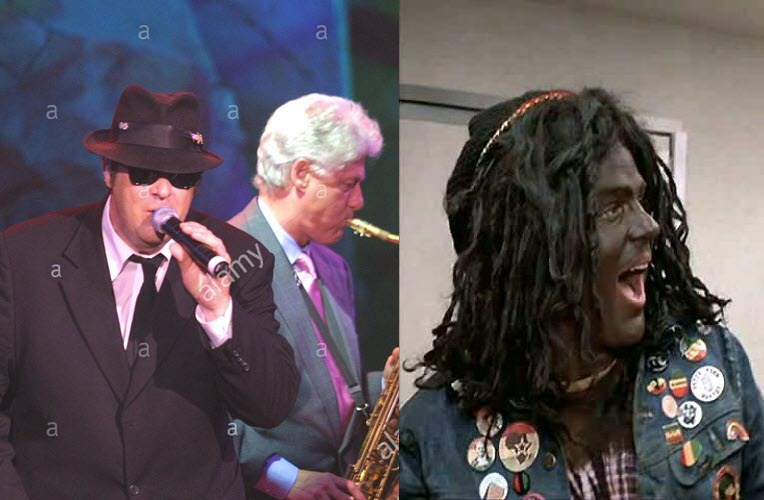 dan-aykroyd-blackface-and-former-president-bill-clinton
